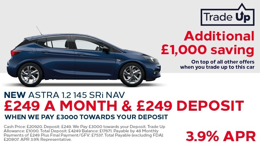 Vauxhall Astra New Car Offer